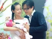 Vợ chồng Lê Kiều Như khoe con gái 1 tháng tuổi