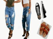 Thời trang - Tự chế quần jeans rách sexy cho các bạn nữ