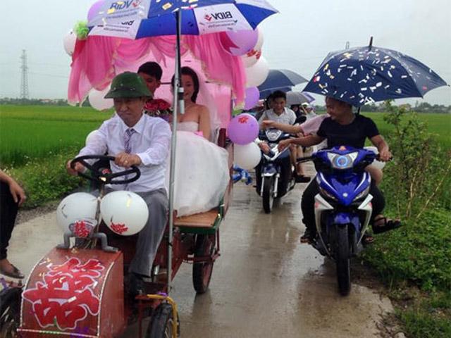 Rước dâu bằng xe mui trần siêu độc ở Nghệ An