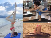Làm đẹp - Những tư thế Yoga gây choáng váng của sao Việt