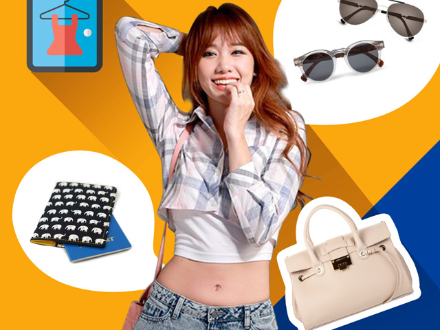 Lục túi của hot girl Hàn nổi tiếng nhất ở Việt Nam