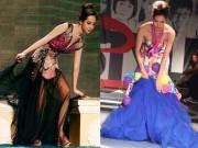 Thời trang - Người đẹp Việt tẽn tò vì trượt ngã trên sàn diễn