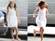 Suri xinh như công chúa khi đến phim trường cùng mẹ