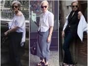 Ngưỡng mộ sự tự tin tuyệt vời của quý bà 60 tuổi