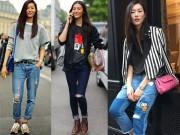 Thời trang - Làm mới chiếc quần jeans cũ kỹ sành điệu như Liu Wen