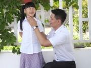 Làng sao - Bình Minh thay vợ đưa con gái đi khai giảng