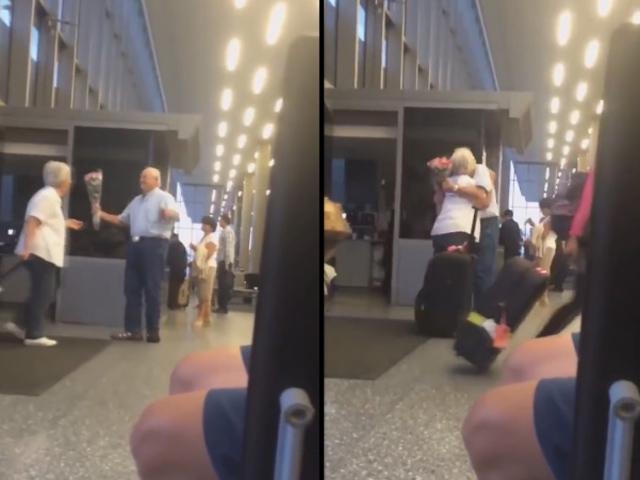 Cộng đồng mạng ngưỡng mộ tình yêu của hai cụ già ở sân bay