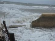 Bão số 3 đánh tan kè biển, quật đổ cây cối