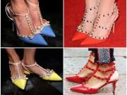 """Đôi giày """"nhái"""" Valentino gây xôn xao New York FW"""