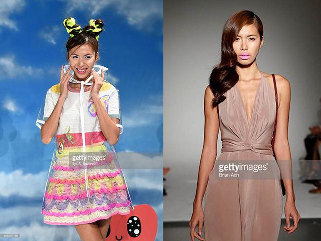 Paris Hilton xem show thời trang Minh Tú diễn ở New York
