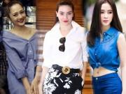 Thời trang - 5 cách mặc áo sơ mi không nhàm chán từ sao Việt