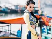Hoa hậu Sương Đặng dịu dàng giữa non nước Hạ Long