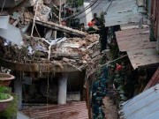 Hiện trường đổ nát vụ sập nhà cổ ở Trần Hưng Đạo