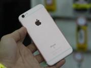 Cận cảnh iPhone 6S màu vàng hồng đầu tiên về Việt Nam