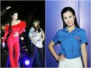 Làng sao - Đông Nhi thay 2 trang phục trong một đêm diễn