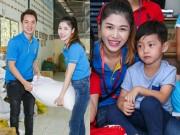 Làng sao - Vợ chồng Đăng Khôi đưa con trai lớn đi thăm trẻ mồ côi