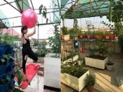 Nhà đẹp - Sân thượng 100m2 đủ trồng rau, nuôi gà, thả cá, nhốt thỏ