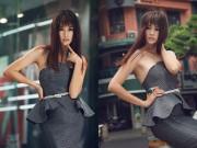 Thời trang - Chân dài Anh Thư tái xuất sành điệu trên đường phố Sài Gòn