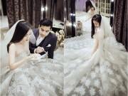 Làng sao - Ngọc Lan - Thanh Bình rạng rỡ thử trang phục cưới
