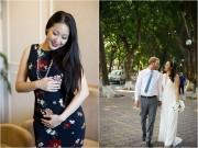 Hoa hậu Ngô Phương Lan khoe bụng bầu giữa thai kỳ