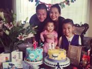 Làng sao - Kim Hiền và chồng đại gia tổ chức sinh nhật ấm áp cho hai con