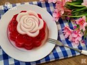 Bếp Eva - Hấp dẫn với bánh Trung thu rau câu thanh long đỏ