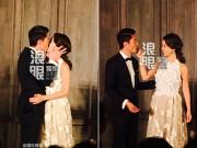 Làng sao - Lâm Tâm Như dịu dàng lau son môi cho Hoắc Kiến Hoa sau nụ hôn ngọt ngào