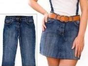 Video: Biến hóa quần jean cũ thành váy denim sành điệu