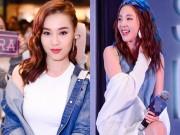 Lan Ngọc diện đồ gợi cảm, tươi rói đến gặp Dara (2NE1)