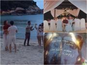 Làng sao - Lộ cảnh Hồ Ngọc Hà được bạn trai đại gia cầu hôn trên biển tại Thái Lan?