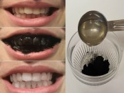 Làm đẹp - Ngược đời đánh răng bằng than để có hàm răng trắng bóng