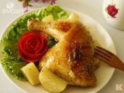 Bếp Eva - Đùi gà đút lò khoai tây ngon ngất ngây