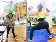 Làm đẹp - Cô nàng Việt nghiện gym, cõng chồng 74kg nhẹ như lông hồng