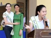 Làng sao - Hoa khôi Nam Em giản dị về thăm trường cũ