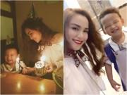 Làng sao - Con trai Diễm Hương cười tít mắt dễ thương trong ngày sinh nhật mẹ