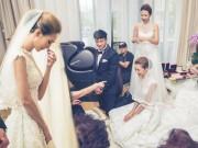 Làng sao - Vợ Hà Nhuận Đông rơi nước mắt vì xúc động trong lễ rước dâu