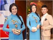 Làng sao - Lý Nhã Kỳ áo dài duyên dáng bên Ngô Nhật Huy trong sự kiện