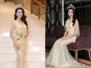 Làng sao - Hoa hậu Mỹ Linh đẹp nao lòng trong lần đầu đi sự kiện hậu đăng quang