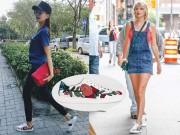 """Thời trang - Taylor Swift bị bắt gặp """"đi lại"""" giày của Thanh Hằng xuống phố"""