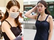 Hình ảnh HH Mỹ Linh bịt khẩu trang đi mua đồ hot nhất MXH hôm nay