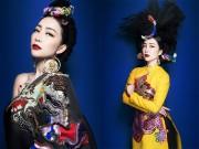 Linh Nga đẹp nhất khi mặc áo rồng áo phượng