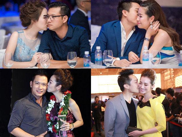 Phát hờn trước hành động ôm hôn tình tứ của vợ chồng sao Việt tại sự kiện