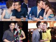 """Làng sao - """"Phát hờn"""" trước hành động ôm hôn tình tứ của vợ chồng sao Việt tại sự kiện"""