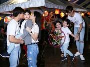 Làng sao - Vợ chồng Tim, Trương Quỳnh Anh hạnh phúc đưa con đi chơi Trung thu