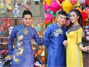 """Làng sao - Minh Luân và dàn sao Việt """"đội mưa"""" diện áo dài, vui chơi trên phố lồng đèn"""