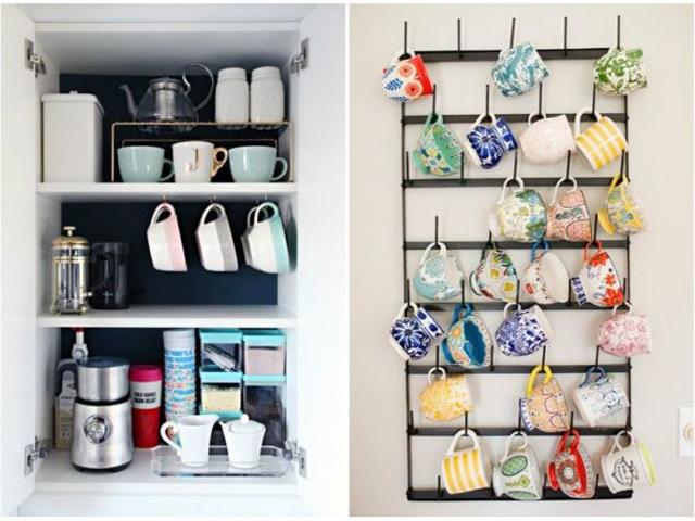 10 ý tưởng sắp xếp cốc chén cho nhà vừa gọn vừa sang