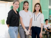 Làng sao - Phạm Hương dẫn học trò The Face đi từ thiện dịp cuối tuần