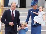 Hoàng tử bé mặc ton sur ton với mẹ và em gái