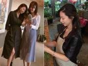 Làng sao - Bà xã của Bae Yong Joon bụng bầu 6 tháng cũng như không