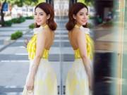 Thời trang - Cô nàng 9X điệu đà với váy mùa thu